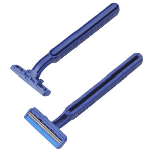 Twin Blades Disposable Shaving Razor Compete with Blue 2 pictures & photos