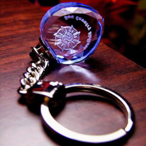 Crystal Keychain for Holiday Gifts or Souvenir
