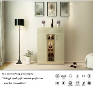 White Modern PVC Shoes Cabinet (ZH-2047) pictures & photos
