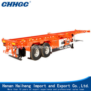 China 3 Axles 40ft Skeleton Semi Trailer for Sale pictures & photos