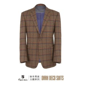 OEM 2017 Plaid Notch Lapel Woolen Men′s Blazer pictures & photos