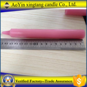 Pink Color Candle Made by Paraffin Wax pictures & photos