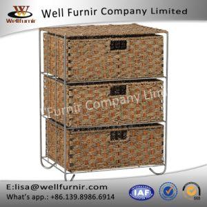 Well Furnir Household Rattan 3-Drawer Storage Bar Cart pictures & photos