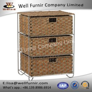 Well Furnir T-072 Household Rattan 3-Drawer Storage Bar Cart pictures & photos