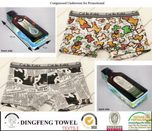 2016 Promotional Gift Compressed Traveling Printed Underwear Df-2028 pictures & photos