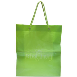 2015 String Handle Bag with High Quality and Reasonable Price, Plastic Bags, Shopping Bags with Customized Logo (HF-106) pictures & photos