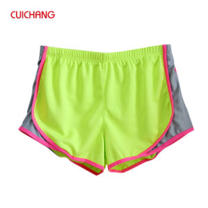 Colorful Breathable Women Wear Fittness Shorts Woman Running Shorts