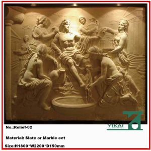 Carved Stone Relief / Marble Relief / Wall Relievo, Slate Relief (YKRF-01)