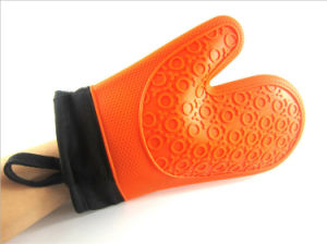 Silicone Hot Kitchen Pot Holder Glove Oven Mit (EB-93256-11) pictures & photos