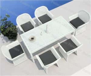 Outdoor Dining Set / 7 PC White Patio Dining Set (M7C866)