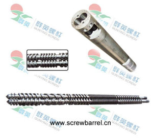 Nitrided Extruder Twin Screw Barrel for Plastic Recycling Machines (QY-L078)