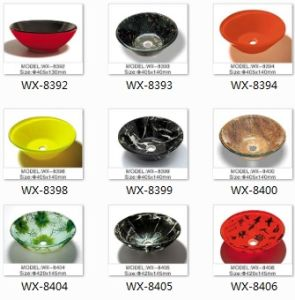 Double Layer Glass Basin Sink for Furniture pictures & photos