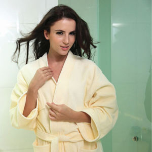 Bath Robe (BA-003) Cotton Hotel Guest Room Bath Robe Manufacturer Cut Pile pictures & photos