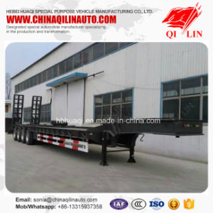 4 Axles 80t Payload Low Bed Semi Trailer Made in China pictures & photos