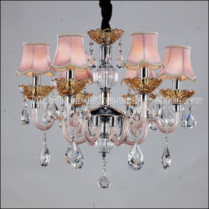 Beautiful Dining Room Crystal Chandelier Lamp in Pink Shades pictures & photos