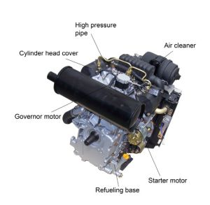 Vertical 2 Cylinder Diesel Engine (EV80)