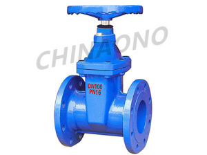 DIN Soft Seal Non Rising Stem Gate Valve pictures & photos