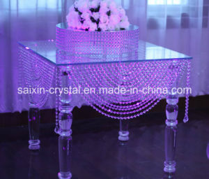 Gorgeous Wedding Event Decoration Crystal Glass Cake Table