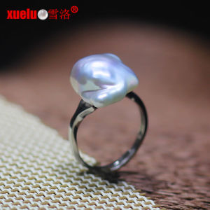 925sterling Silver Real Freshwater Baroque Pearl Ring Designs (E170003) pictures & photos