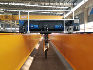 Inverter Control European Type Double Girder Overhead Crane pictures & photos