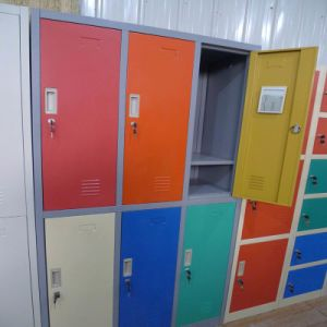 Flat Package Colorful 6 Door Metal Clothes Locker pictures & photos
