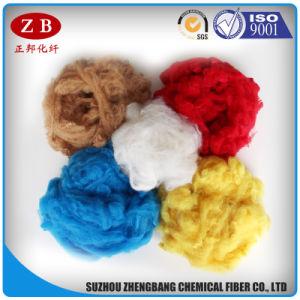 3D*64mm Best Selling PSF Dope Dyed Polyester Staple Fiber in Regenerated Style