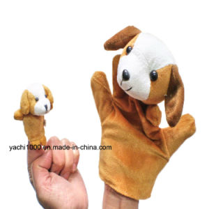 Christmas Gift Animal Shaped Hand and Finger Stuffed Puppet Plush pictures & photos