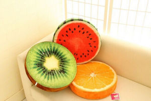 Plush Soft Fruit Polyester Cushion pictures & photos