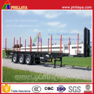 Tri-Axle Skeleton Type Logging Timber Semi Trailer pictures & photos