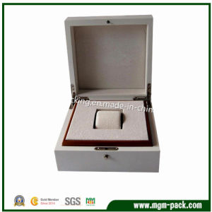 High Glossy White Lacquer Wooden Watch Box pictures & photos