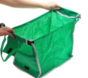 Folding Style and Non-Woven Material Grab Bag Shopping Bag for Supermarket pictures & photos