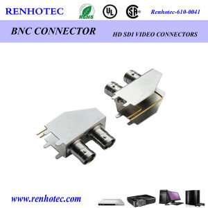 Dual BNC Connectors Female Right Angle PCB Mount BNC Coaxial Connector pictures & photos