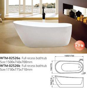 Oval Acrylic Soaking Bathtub (WTM-02526) pictures & photos