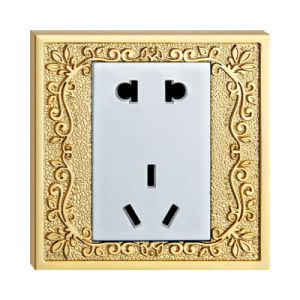 Forged Brass Gold Plated Hotel Wall Power Socket pictures & photos