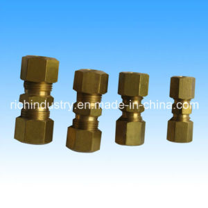 Brass Compression Pipe Fittngs for Auto Parts/Automobile Part pictures & photos