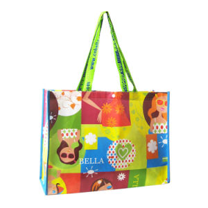 PP Woven Shoppig Tote Laminated Ladies Bag pictures & photos