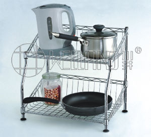 Patent Double Layers Steel Dish Drying Rack for Home Kitchen pictures & photos
