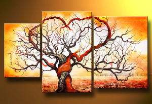 Modern Landscape Tree Oil Painting Canvas Art Work (LA3-081) pictures & photos
