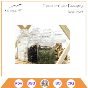 Hexagonal Glass Candy Jar with Cap pictures & photos