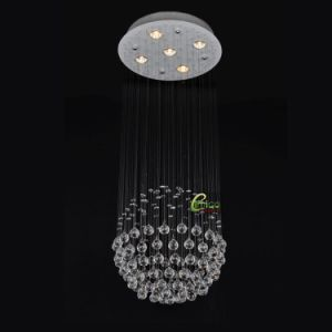 Crystal Hanging Chandelier Lighting with LED Bulb (EM1002-5L)