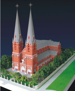 Architectural Model Making, Scale Model of Church Building (JW-206) pictures & photos