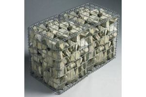 Hot Dipped Galvanized Gabion Box for a Stone Wall