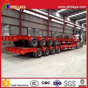 4lines 8axles 120tons Low Boy Transportation Semi Truck Lowbed Trailer pictures & photos