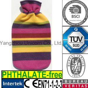 CE Purple Stripe Fleece Hot Water Bottle Cover