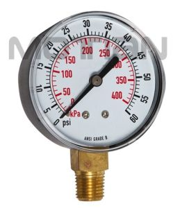 2.5 Inch Steel Case Plastic Surface Pressure Gauge pictures & photos
