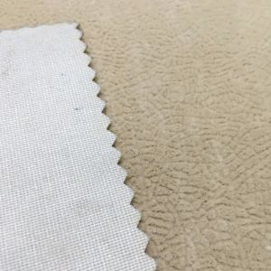 Sprayed Single Flocked Fabric/Embossed Looking/Flocking Fabric (J023) pictures & photos