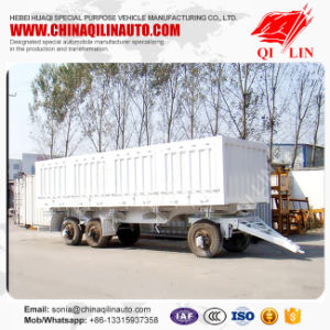 3 Axle 20FT 30FT 40FT Cargo Drawbar Dolly Full Trailer pictures & photos