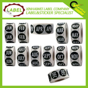 Customize Self Adhesive Circle Month Label