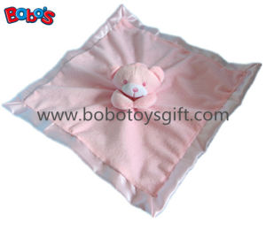 High Quanlity Saft Plush Pink Bear Baby Toy Softest Baby Comforter Bib pictures & photos