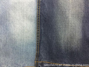 98% Cotton 2%Spandex Mercerized Slub Denim Fabric with Stretch